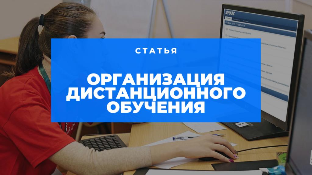 Статья: Организация дистанционного обучения